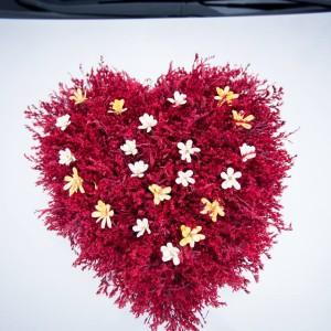 aranjament masina flori uscate